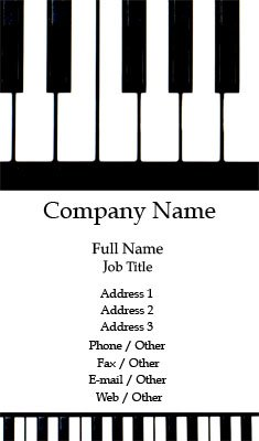 Piano Keys Business Card Template